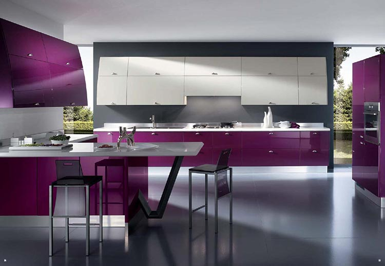 Purple Modern Luxury Kitchen