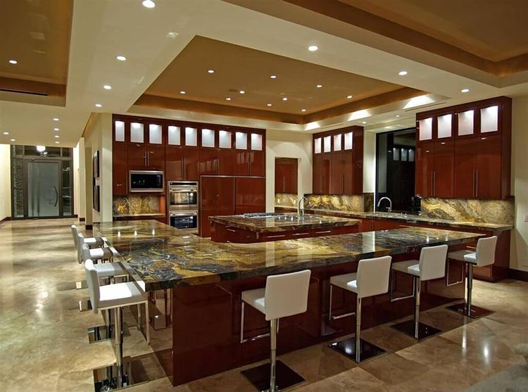 Giant Modern Luxury Kitchen with dining area