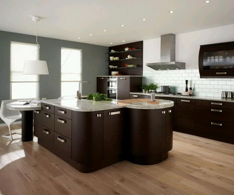 Modern Luxury Kitchen with unusual shapes