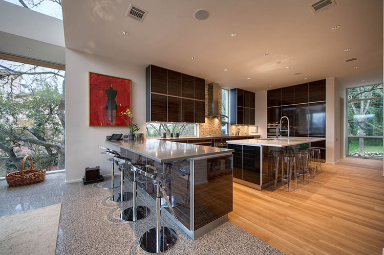 Modern Luxury Kitchen with two large islands