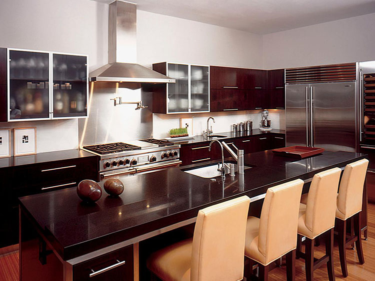 Modern Luxury Kitchen with refined wood