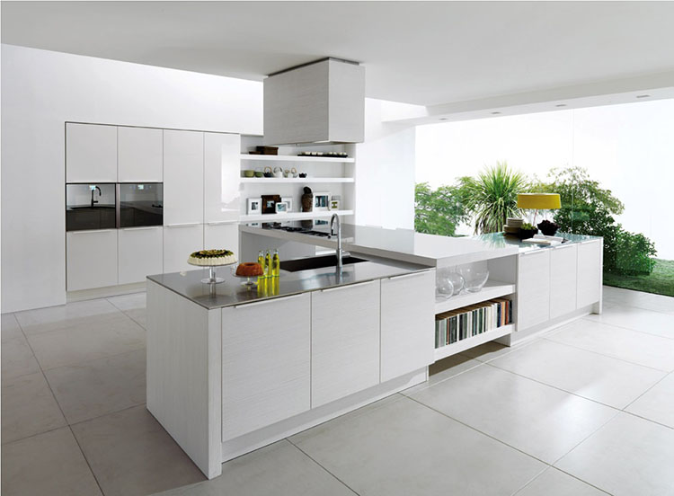 Modern Luxury Kitchen with T-shaped island