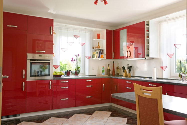 Red Modern Luxury Kitchen