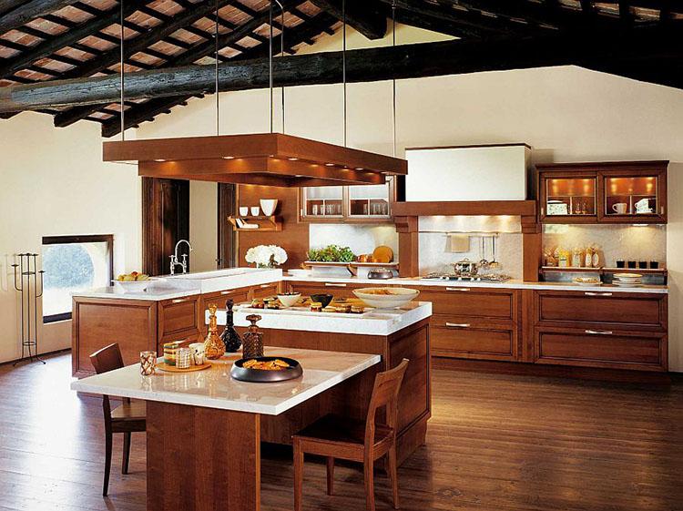 Modern Luxury Kitchen with tiny island
