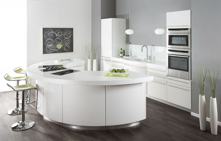 Modern Luxury Kitchen with half moon island