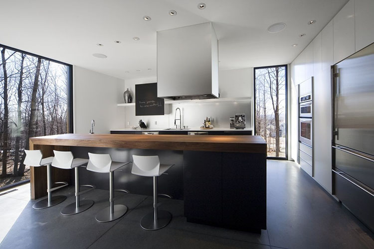 Modern Luxury Kitchen with oak counter top