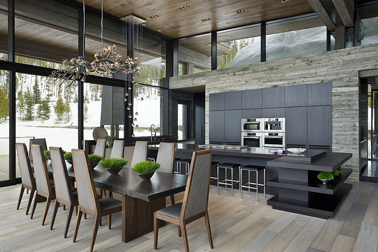Ski lodge modern kitchen design