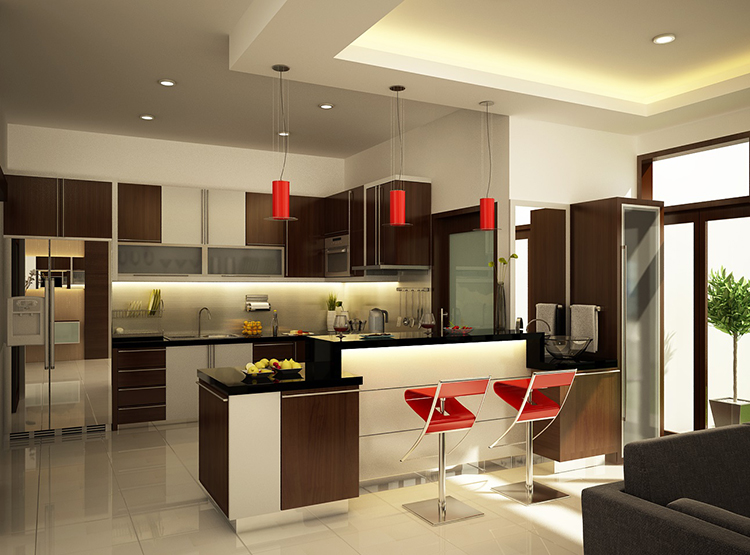 Modern and bright Luxury Kitchen