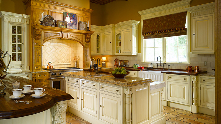 Luxury Kitchen with false fireplace