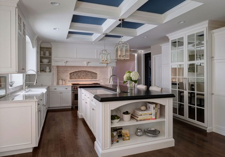 White Luxury Kitchen - both modern and traditional