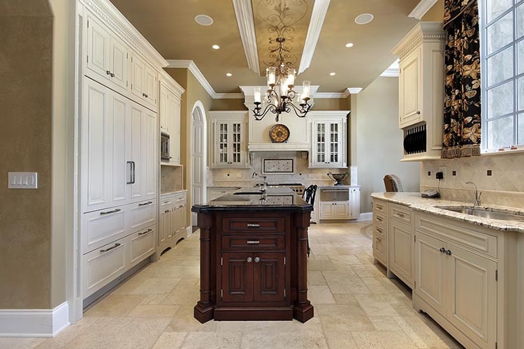 White Luxury Kitchen with classical lines
