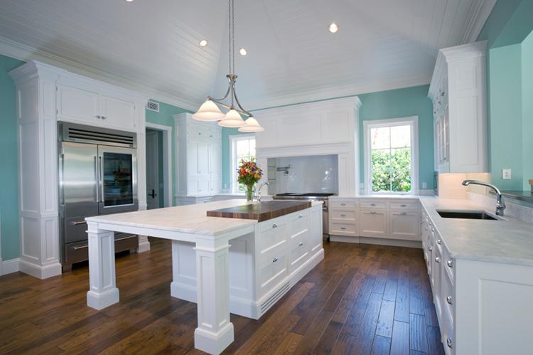 White and Blue Luxury Kitchen