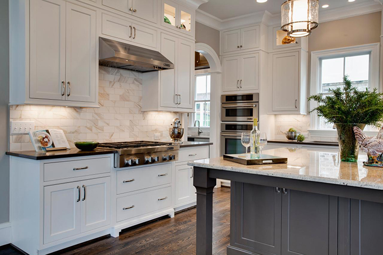Luxury Kitchen with gas stove top