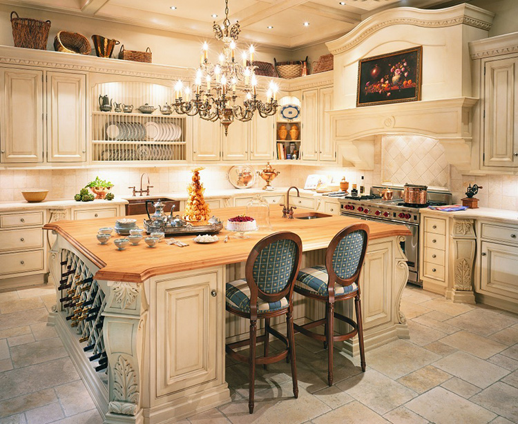 Luxury Kitchen with intricate decor