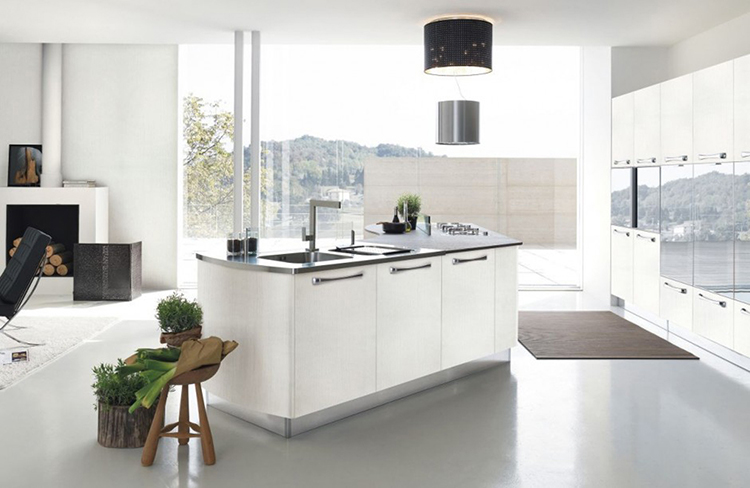 Luxury Kitchen with clean lines and shapes
