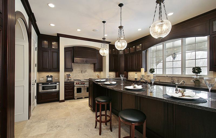 naturally warm and elegant HardWood Luxury Kitchen