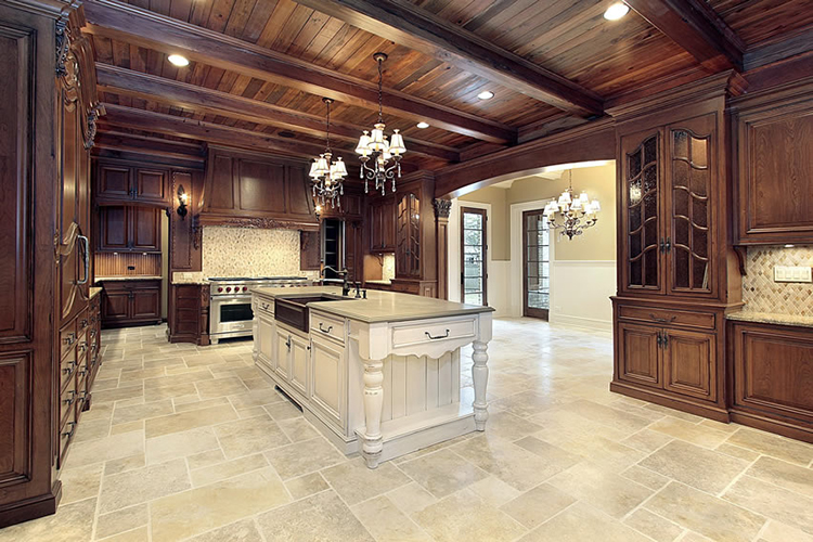 Walnut Luxury Kitchen with personality