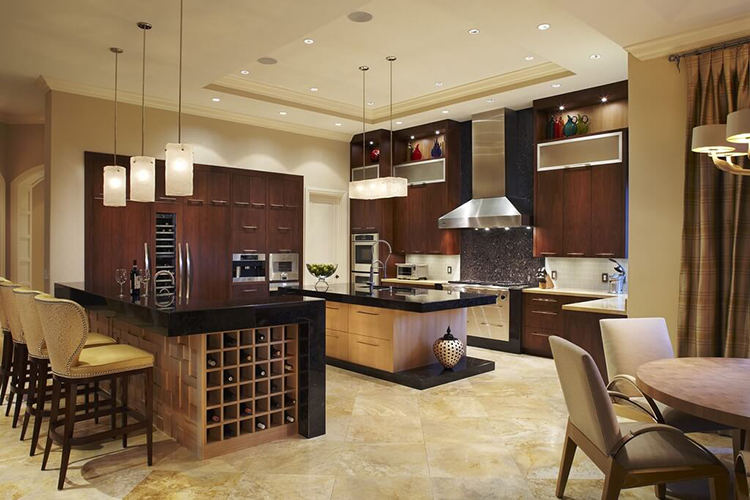 Luxury Kitchen with wine rack