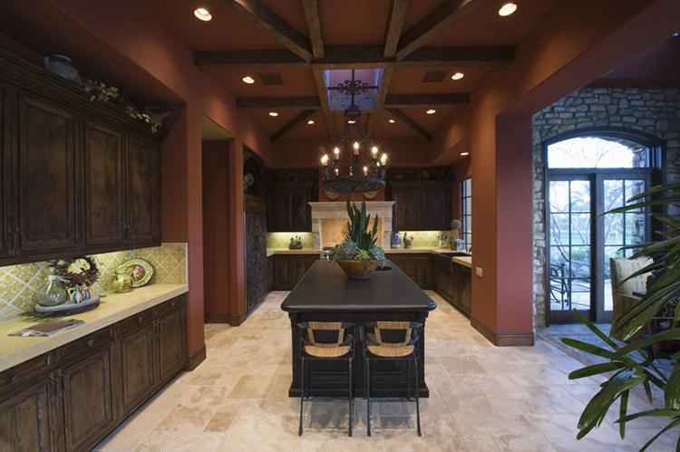 Luxury Kitchen with hidden refrigerator