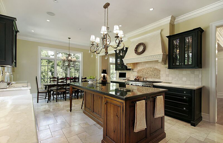 Luxury Kitchen with custom wood island