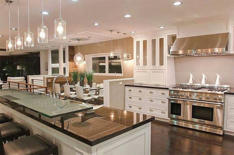 Recessed Kitchen Lighting With Pendant Lights