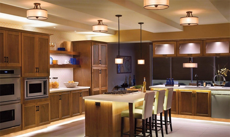 Kitchen ceiling lights with pendant lighting
