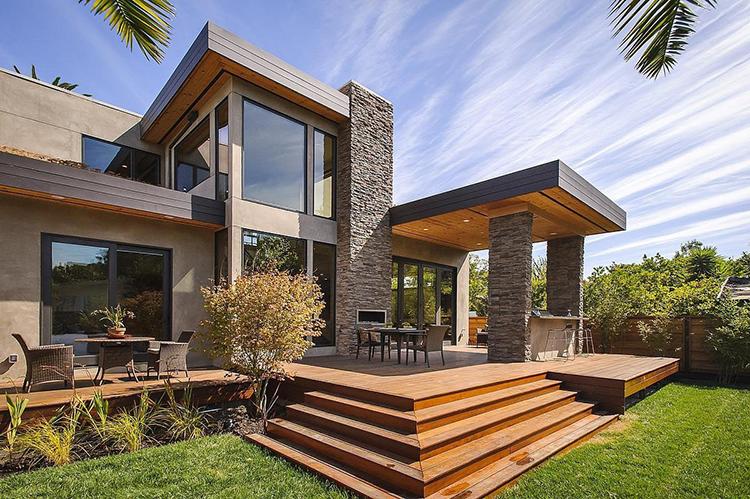 Lifetime Luxury - villa with split level wooden patio- Unique Architecture Design002
