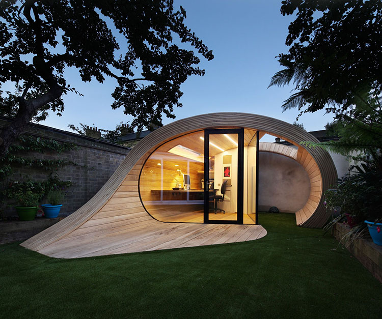 Lifetime Luxury - unique home made out of a tubular section of a taurus - Unique Architecture Design005