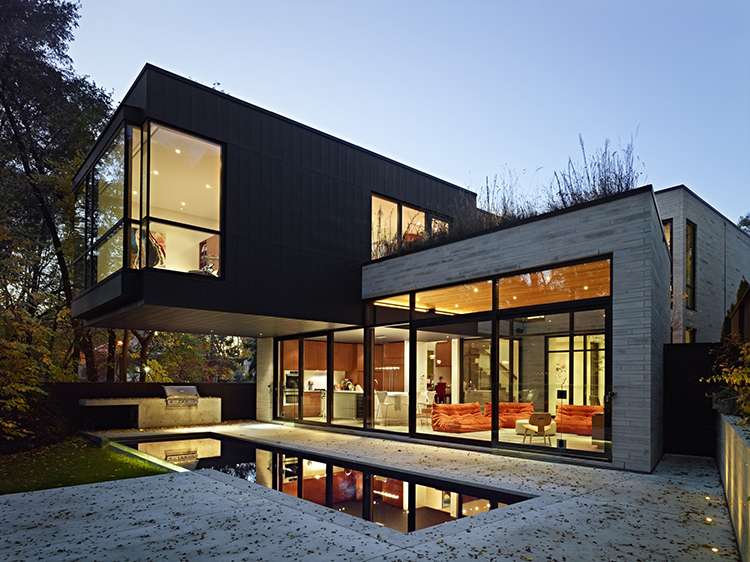 Lifetime Luxury - two storey modern villa made out of white stones and dark wood on two squared volumes with small swimming pool - Unique Architecture Design016