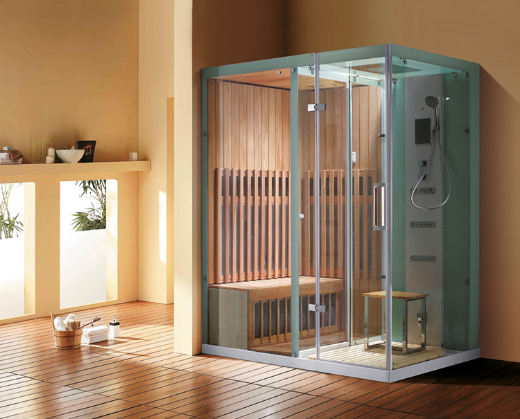 Luxury Home Sauna - combined solution with sauna and shower box in a unique cabinet - LifetimeLuxury053
