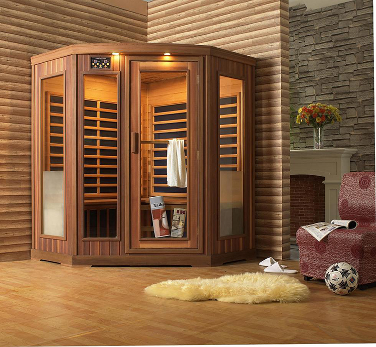 Luxury Home Sauna - esagonalshaped corner sauna cabinet - LifetimeLuxury074