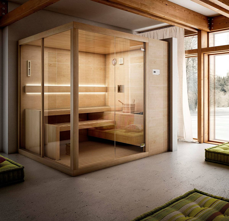 Luxury Home Sauna - glass panel wall sauna cabinet - LifetimeLuxury199