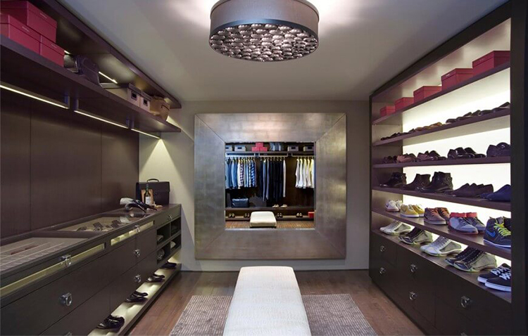 Lifetime Luxury   Luxury Closet Ideas010   Room With A Big Shoe Rack On The  Right