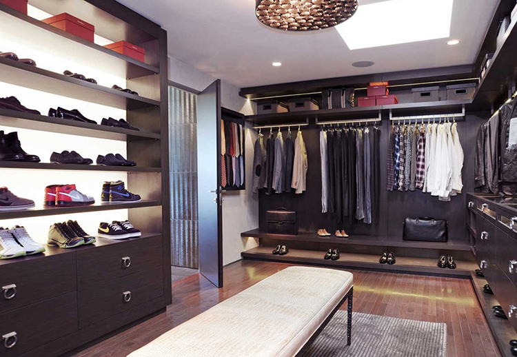 Lifetime Luxury   Luxury Closet Ideas043   Inside A Modern Dark Walnut  Wooden Closet. On