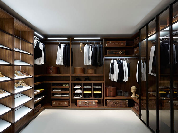 Lifetime Luxury   Luxury Closet Ideas051   Inside A Dark Wallnut Wooden  Closet. White Floor