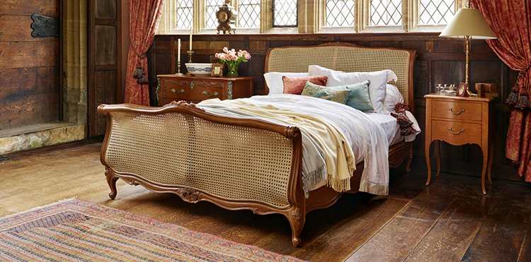 Luxury bed gallery - Louix XV Caned Bed