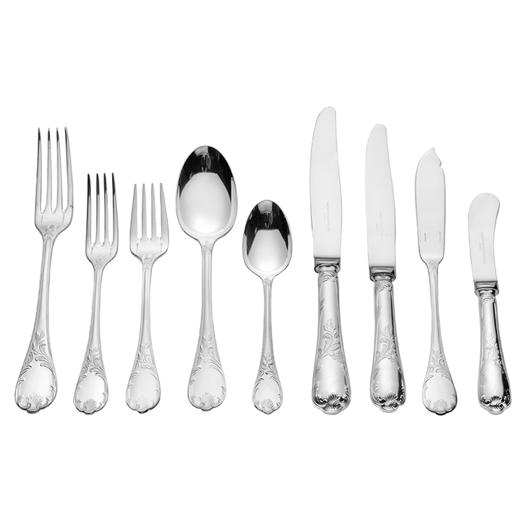 03 best flatware sets - christofle silver cutlery - forks, spoons, knives, fish kinives
