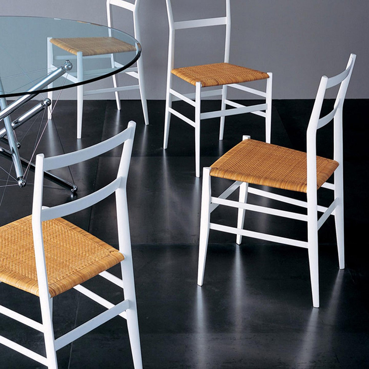 20. luxury chairs gallery -Gio Ponti Chairs - superleggera - 4 models on a dark background