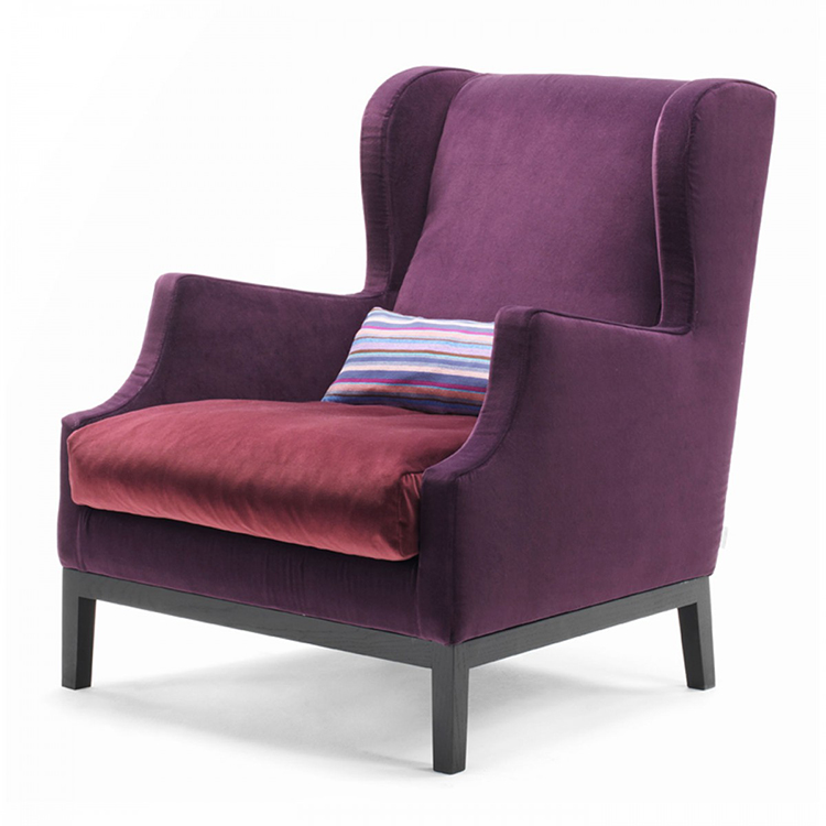 "22.luxury chairs gallery Piero Lissoni Chair-""Chauffesuse"" purple colour"