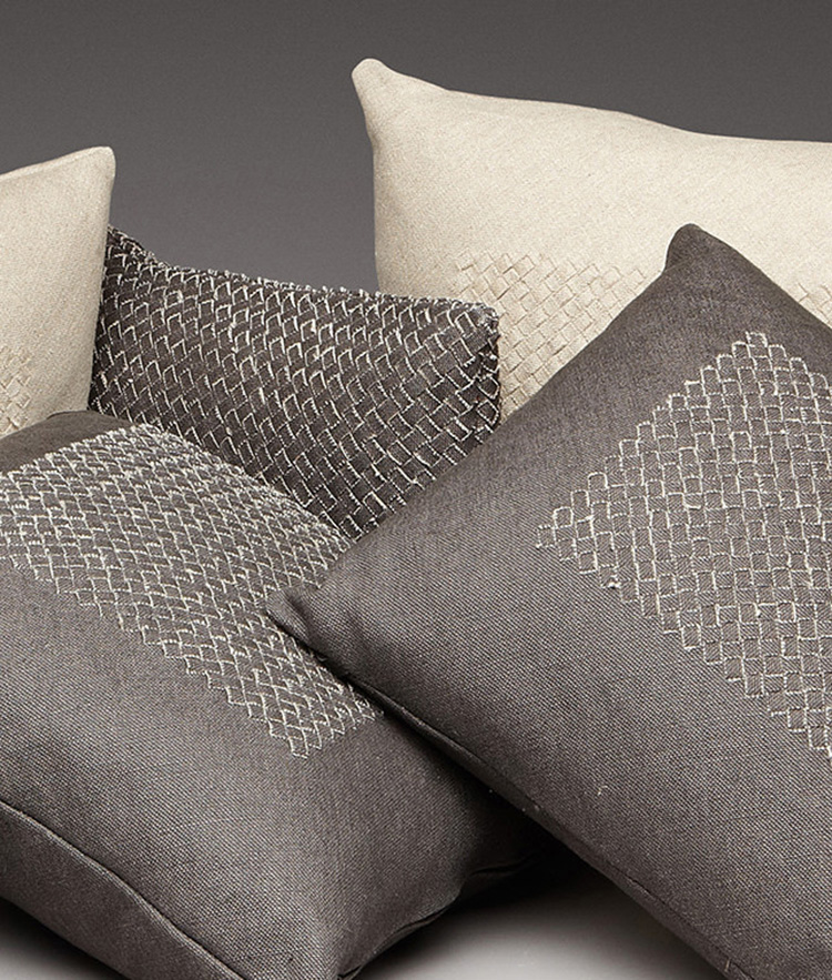 05. decorative pillow gallery -hand woven intrecciato pillow by Bottega Veneta