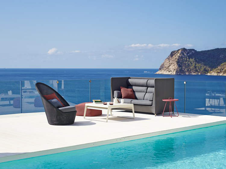 Diamond highback sofa - Luxury Outdoor Furniture