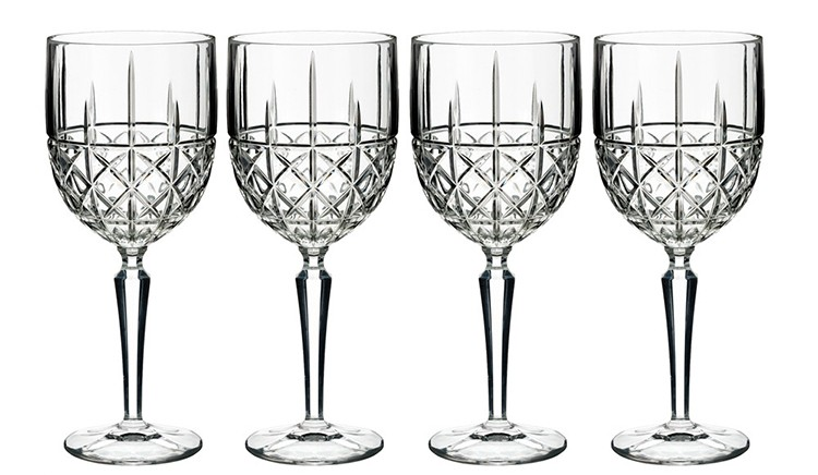 06. long stem wine glasses gallery -Waterford Marquis Brady White Wine Glasses