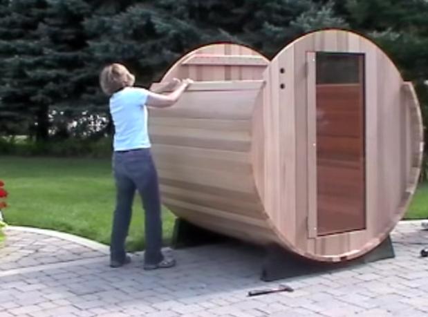 Home Sauna Assembly