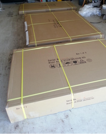 Sauna Delivery Boxes - JHN Lifestyles