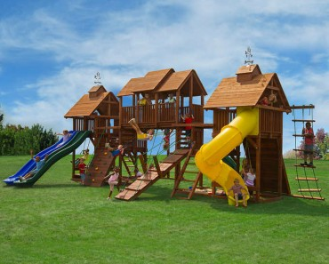 Giant backyard playground