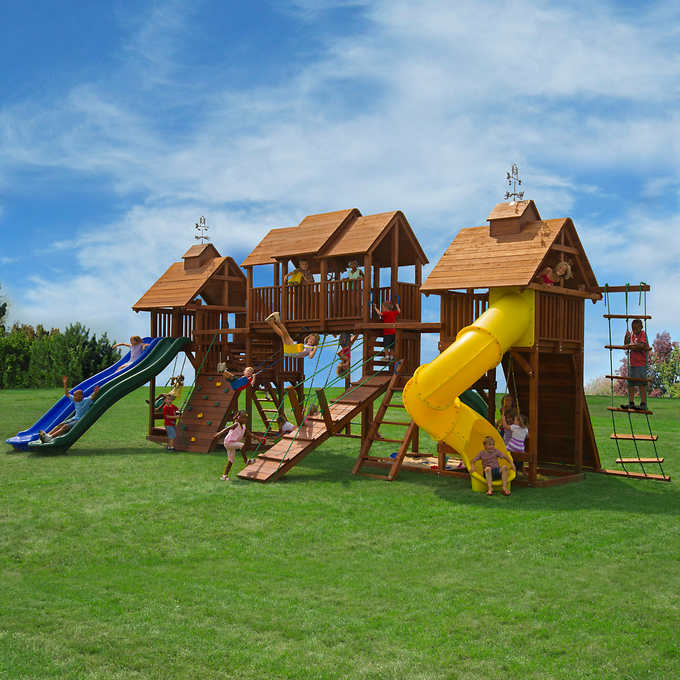 Giant backyard playground - Top 10 Backyard Playground Sets - Lifetime Luxury